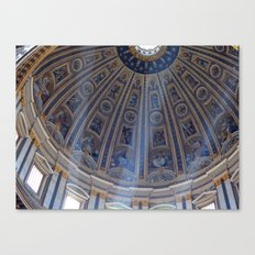 St. Peter's Basilica Dome in Vatican City - Michelangelo - Rome Travel Italy Canvas Print