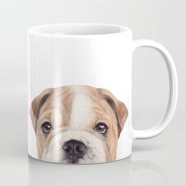 Bulldog Original painting Dog illustration original painting print Coffee Mug