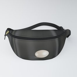 Perfect white Pearl on Black satin Fanny Pack