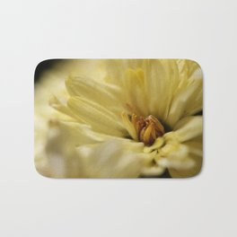 Macro Yellow Flower Bath Mat