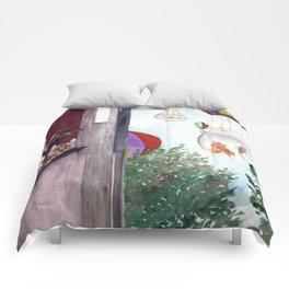 Gatitos en ventana Comforters