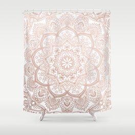 Lace Mandala - Rosegold Shower Curtain