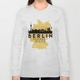BERLIN GERMANY SILHOUETTE SKYLINE MAP ART Long Sleeve T-shirt