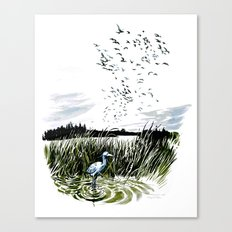 Dream of the Chicago wetlands. Canvas Print