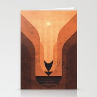 titan Stationery Cards featuring Titan - Lakes of Titan by Fabled Creative