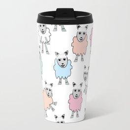 Colorful Counting Sheep Bedtime Pattern Travel Mug