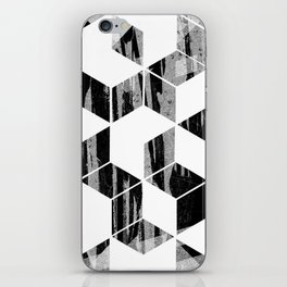 Elegant Black and White Geometric Design iPhone Skin