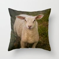 lamb Throw Pillows featuring Lamb by Guna Andersone & Mario Raats - G&M Studi