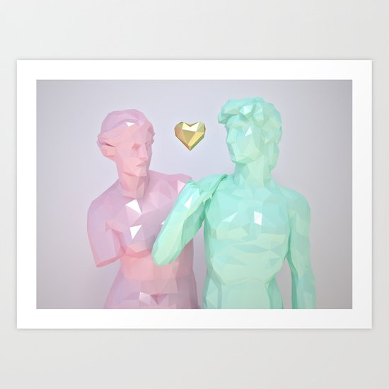 Two Lovers Art Print
