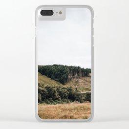 Scottish mountain landscape Clear iPhone Case