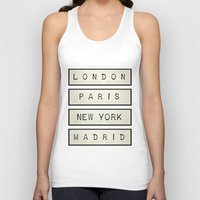 calendars Tank Tops featuring London | Paris | New York | Madrid by Shabby Studios Design & Illustrations ..
