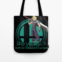 smash bros Tote Bags featuring Cloud - Super Smash Bros. by Donkey Inferno