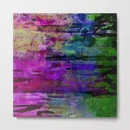 Rainbow Jungle Watercolor Metal Print