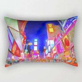 Times Square New York Pop Art Rectangular Pillow