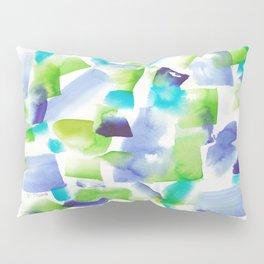 180719 Koh-I-Noor Watercolour Abstract 7| Watercolor Brush Strokes Pillow Sham