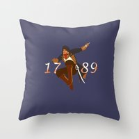 revolution Throw Pillows featuring Revolution by Arts and Herbs