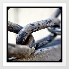 Chains. Art Print