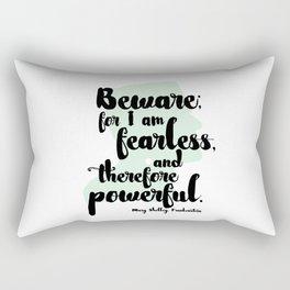 Frankenstein + Mary Shelley Quote #1 Rectangular Pillow