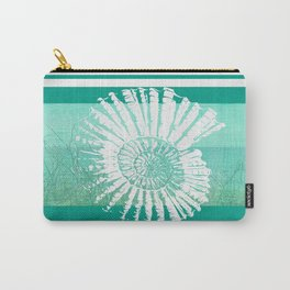 Nautilus Decor Mixed Media Piece Carry-All Pouch