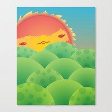 Sunlit Hills Canvas Print