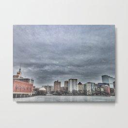 A Frozen Charles River Metal Print