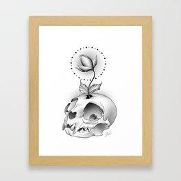 Skull Flower Framed Art Print