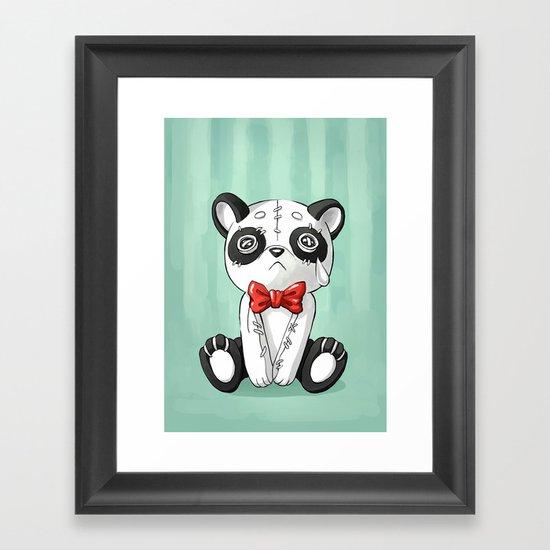 Panda Doll Framed Art Print