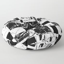 Manipulated Marble - Black and white, abstract, geometric, marble style art Floor Pillow