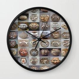 Zuni Pottery Wall Clock
