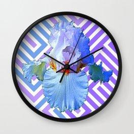MODERN ART DECO PATTERN IRIS PATTERN ART Wall Clock