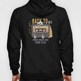 Back to 90s Cassette Skeleton Hoody