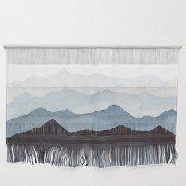 Indigo Mountains Landscape Wall Hanging