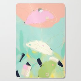 minimal floral abstract art Cutting Board