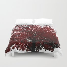 Tree on Canvas Duvet Cover