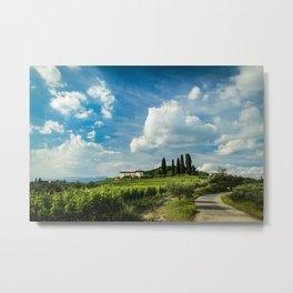 Sunset in the vineyards of Rosazzo Metal Print