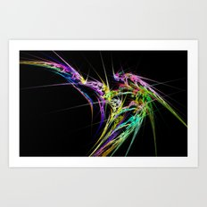 chaos cloud rays fractal  background 1 Art Print