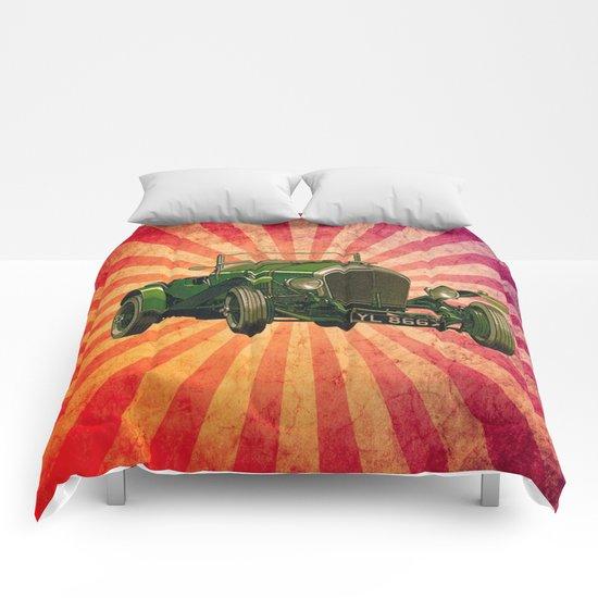 Vintage Car 03 Comforters