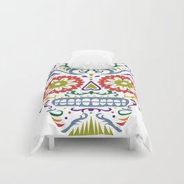 Sugar Skull SF multi 2 - on white Comforters