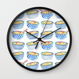Oodle of Noodles Wall Clock
