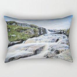 Waterfall on the East Dart River Rectangular Pillow