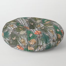 Sleepy Scandinavian Forest Floor Pillow