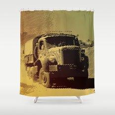 truck in the desert Shower Curtain