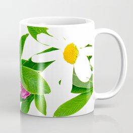 Summer Meadow Flowers White Background #decor #society6 #buyart Coffee Mug