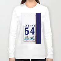 number Long Sleeve T-shirts featuring door number by gzm_guvenc