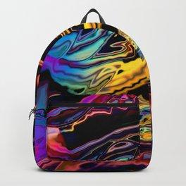 Rainbow road gone bad Backpack