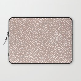 Little wild cheetah spots animal print neutral home trend warm dusty rose coral Laptop Sleeve