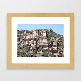 Unusual Rock Formations Near Cine Framed Art Print