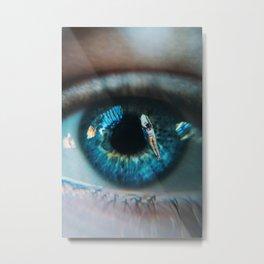Surfers Eye Metal Print