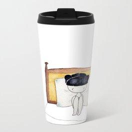 No despertador + despertarse a las 7:00 = sábado Metal Travel Mug