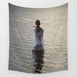 Dreaming in the water Wall Tapestry